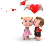Children with hearts — Stock Photo