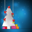 Christmas Tree with Gifts — Foto de Stock