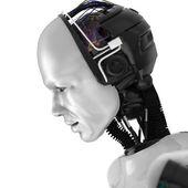 Rosto robótico humanóide — Foto Stock
