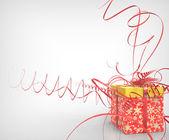 συσκευασία δώρου με κορδέλα — Φωτογραφία Αρχείου