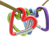 Snap Hook Heart — Stock Photo