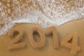 New Year Written in the Beach — Stock Photo