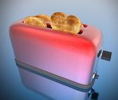 Hartvormige toast — Stockfoto