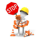 Road sign -Traffic cones — Stock Photo