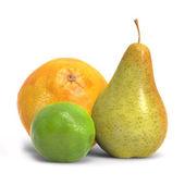 梨橘子和柠檬 — 图库照片