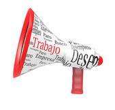 Megaphone with written job — Stock Photo