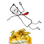 Dive into money — Stock Photo #49602043