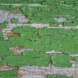 Green old painted wooden background. Background of green, peelin — Stock Photo