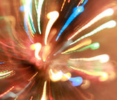 Power of the light. Lights ray on the night party. — Stock Photo
