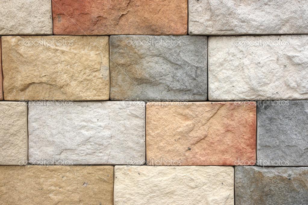 Colorida textura de ladrillo de piedra arenisca de pared o - Ladrillos de piedra ...