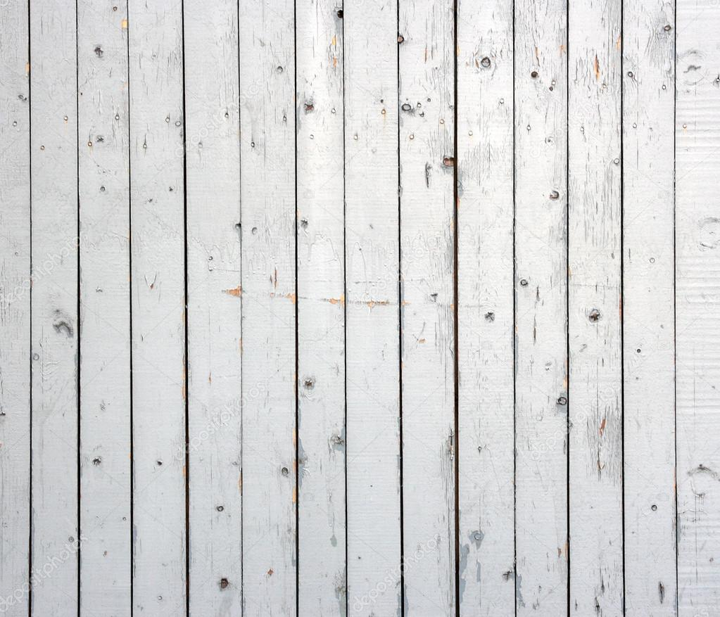 White Background Of Weathered Painted Wooden Plank Wooden
