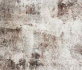 Una placa metálica vieja oxidada con pintura blanco brillo. viejo blanco oxidado — Foto de Stock