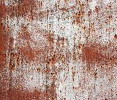 Old rusty white metallic background. — Stock Photo