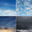 Morning, day, evening and stormy sky (high.res.) — Stock Photo #37152145