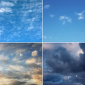 Morning, day, evening and stormy sky (high.res.) — Stock Photo