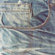 Vintage jeans texture, background. — Stock Photo