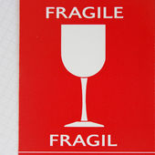Label fragile — Foto de Stock