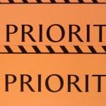 Label priority — Stock Photo #48219347