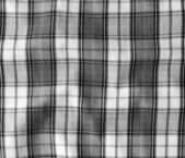 Mantel arrugado de lino blanco y negro. — Foto de Stock