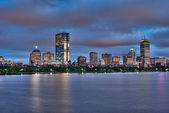 Sunset Across the Boston Skyline — Stock Photo