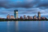 Panorama boston zachód słońca — Zdjęcie stockowe
