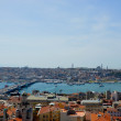 View from Galata Tower over the Istanbul city, Turkey - Stock Photo