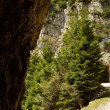 Strada delle 52 gallerie, The road with 52 tunnels, Valli del Pasubio, Vicenza, Veneto, Italy — ストック写真