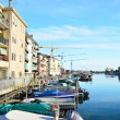 Beautiful view of the canals in Chioggia, near Venice, Italy — Stock Photo