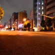 Panoramic view of the streets at night of Tokyo, Japan — Stock Photo