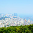 Panoramic view over Busan city from Mount Geumnyeonsan in the morning, South Korea — Stock Photo