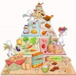 Cute Food Pyramid - Stock Photo