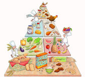 Cute Food Pyramid — 图库照片