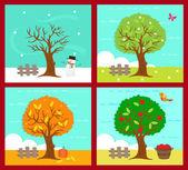 The Four Seasons — Stock Vector