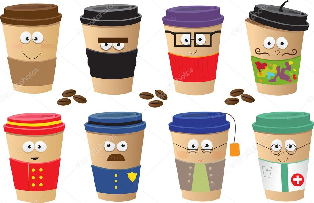 Cute coffee cartoon