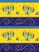 Hanukkah Pattern — Stock Vector