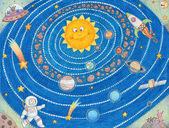 Sistema solar para niños. — Foto de Stock