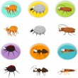Cartoon pests — Stock Vector #35515763