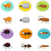Cartoon pests — Stock Vector