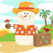 Hawaiian Snowman — Stock Vector