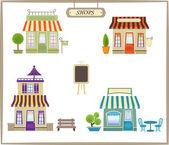 Şirin dükkanlar — Stok Vektör