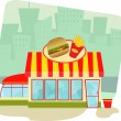 Stock Vector: Fast Food Restaurant
