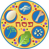 Passover Plate — Stock Vector