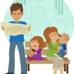 Family Vacation — Stock Vector