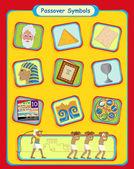Symboles Pâque — Vecteur
