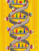 Surreal DNA — Stock Vector
