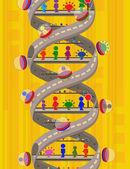 Surreal DNA — Vector de stock