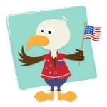 Patriotic Eagle - — Stock Vector #47047939