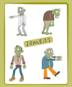 Zombies — Stock Vector