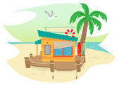 Beach Shack — Stock Vector