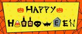 Happy Halloween Sign — Stock Vector